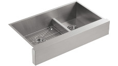 Kohler Vault Smart Divide Double Basin Apron Front Undermount Sink