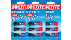 Loctite Super Glue Liquid To Go Mini Trio (6 Packs Per Carton)