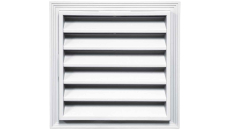"Mid-America 12"" Square Vinyl Gable Vent - 001 White - 5 per Box"