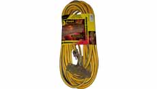 C&R Yellow Extension Cord 12/3 3-Way - 50ft.