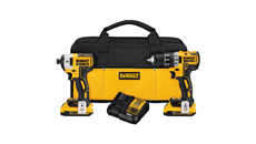 DeWalt 20V MAX XR Lithium Ion Brushless Compact Drill/Driver Impact Driver Kit