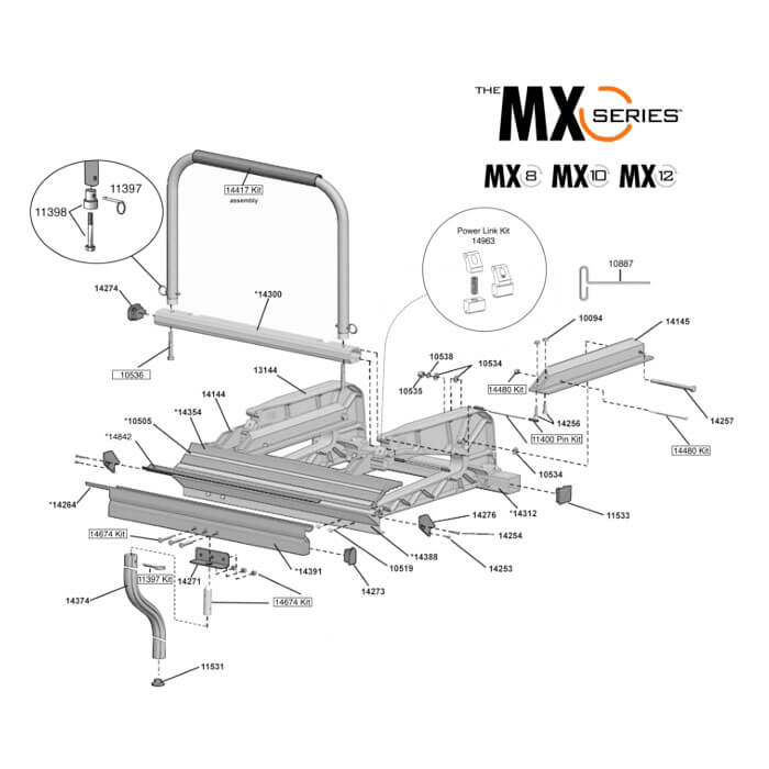 Tapco MX Series 8, 10, 12 Replacement Parts from BuyMBS.com