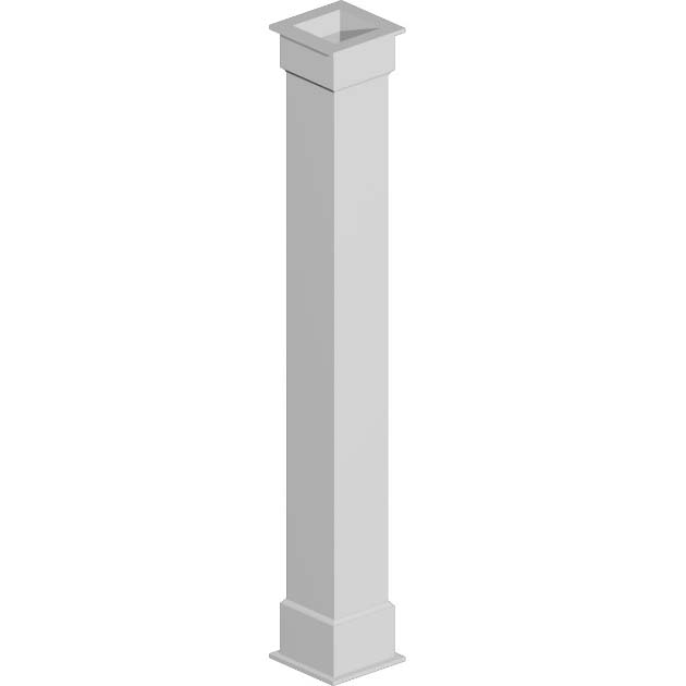 Fypon 3 8 non tapered pvc column wraps from for Fypon column