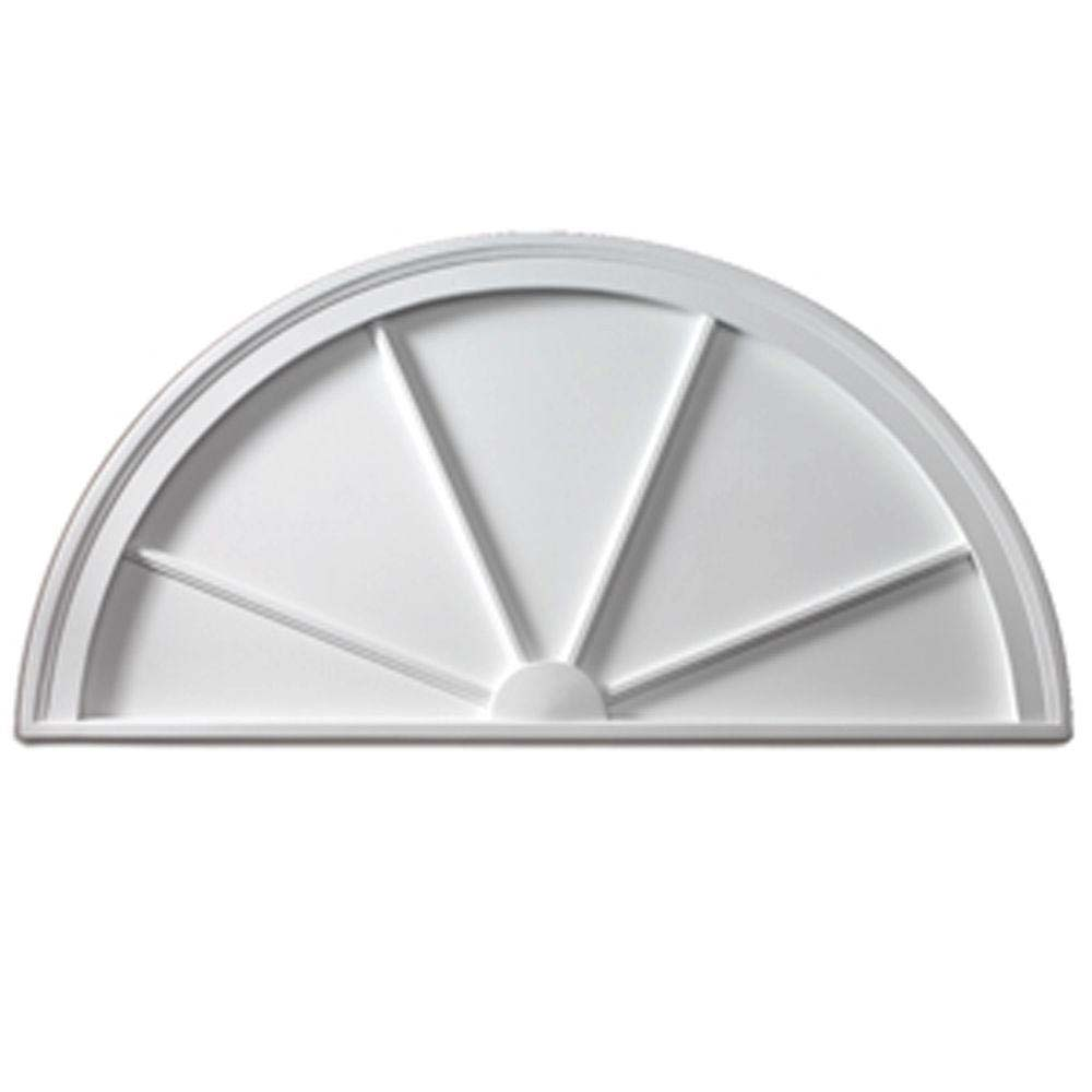 Fypon Polyurethane Half Round Spoked Pediment From