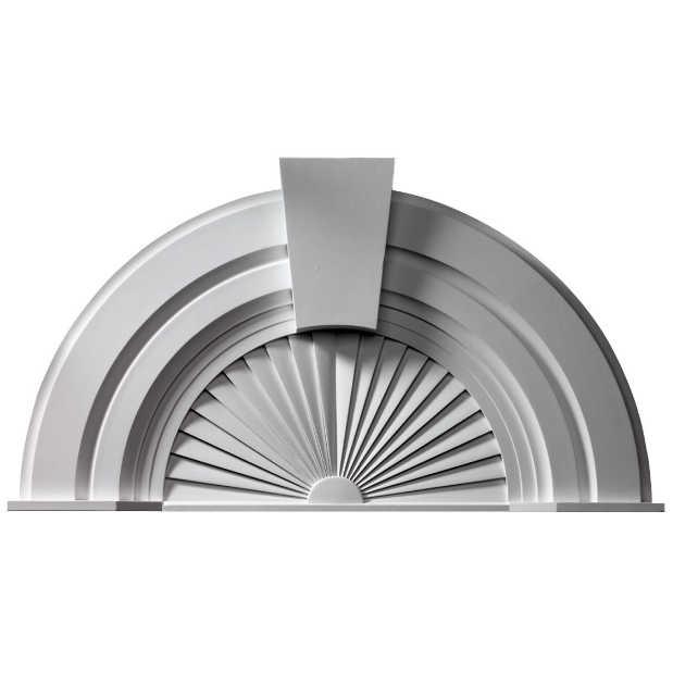 Fypon Polyurethane 10 Decorative Arch Pediment From