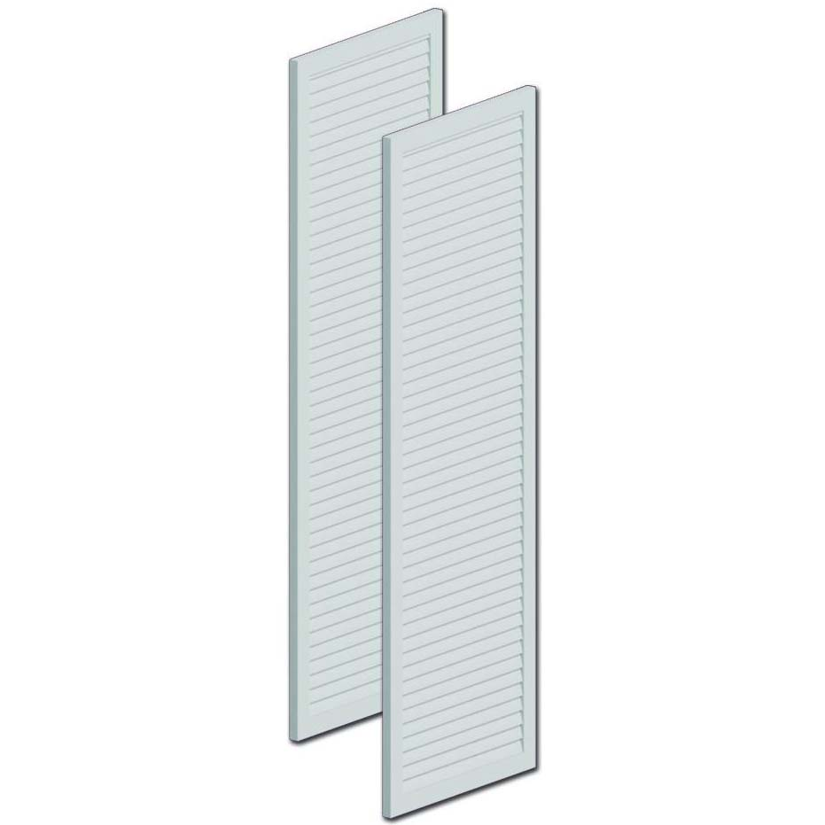 Fypon polyurethane louvered shutters from for Fypon quick rail