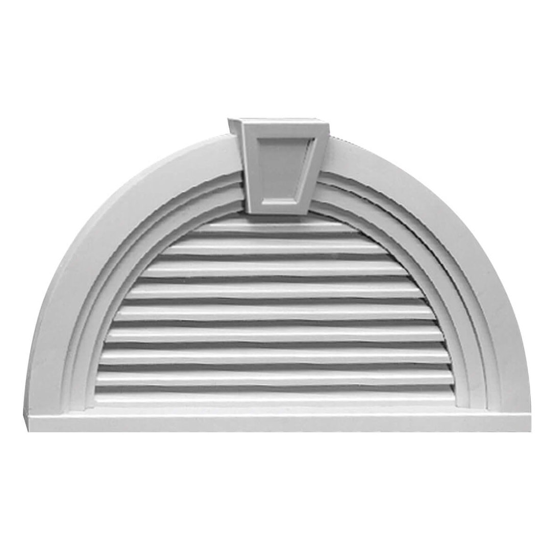 Fypon polyurethane louvers with keystone and trim from for Fypon gable trim