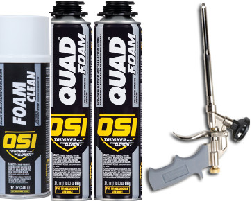 OSI QUAD FOAM Starter Kit (2 Cans of QUAD FOAM, 1 FOAM Gun, 1 FOAM Cleaner)