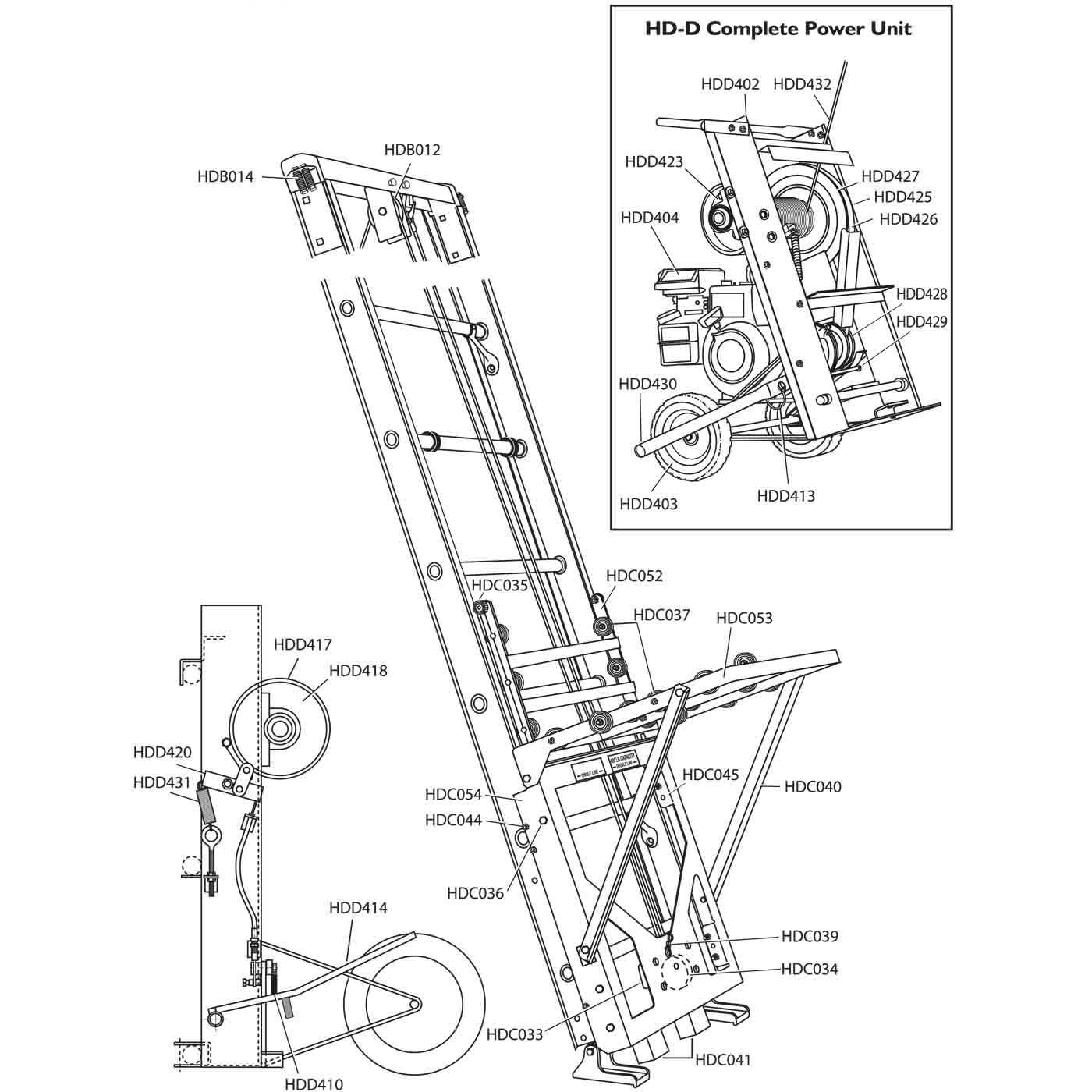 Safety Hoist Hd400 Replacement Parts From Buymbs Com