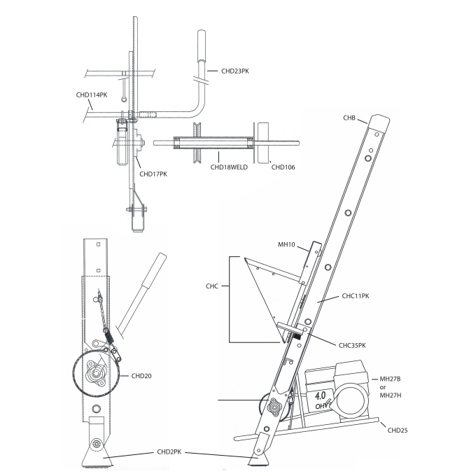 safety hoist ch200 replacement parts from buymbs com