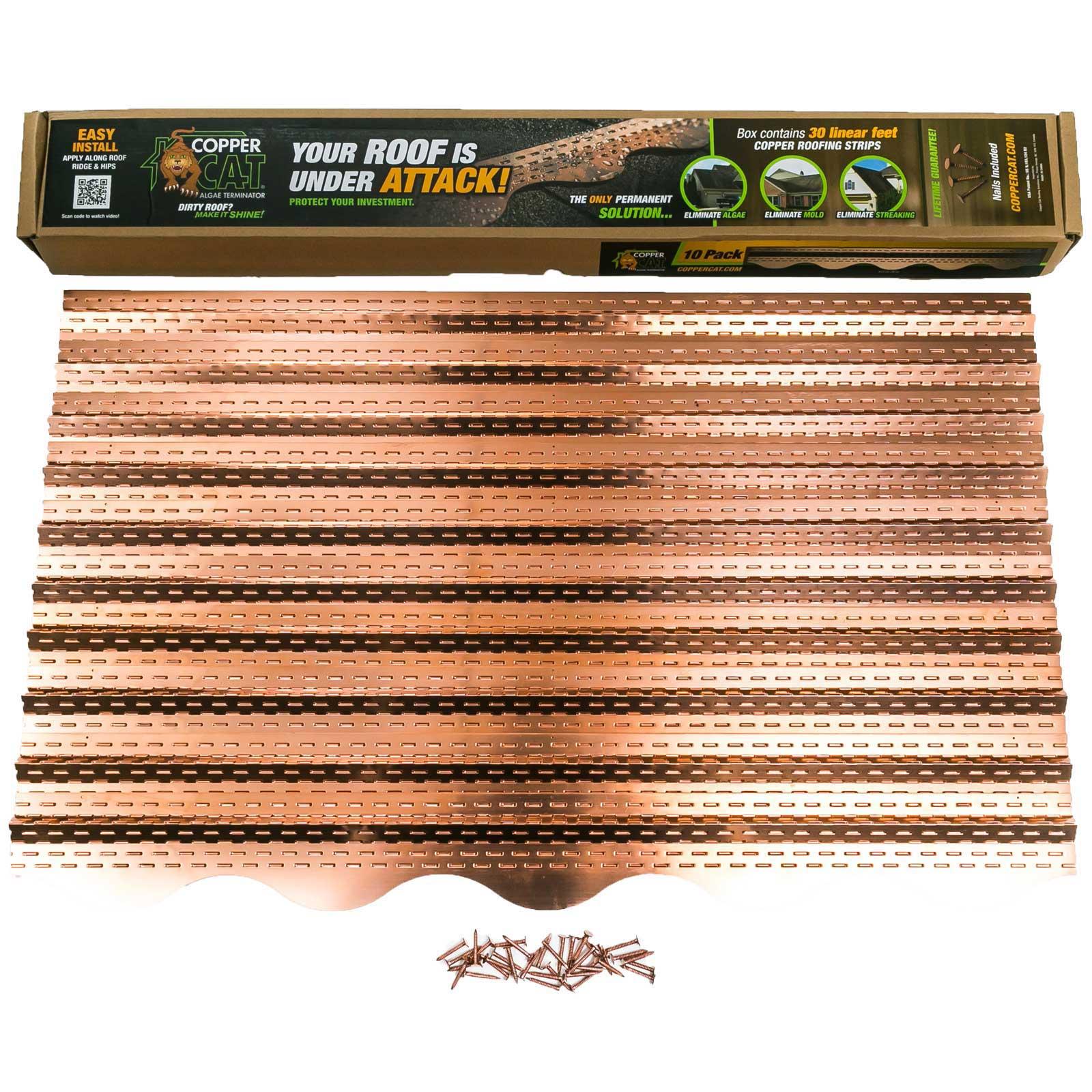 Copper Cat Algae Terminating Roofing Strips