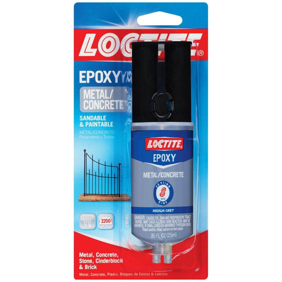 Loctite 25mL Epoxy Metal & Concrete Syringe