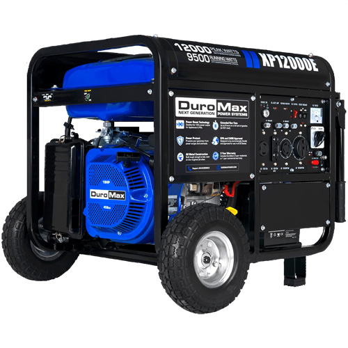DuroMax XP12000E 18HP Gas Electric Start Portable Generator