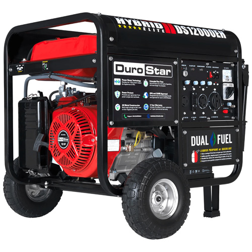 DuroStar DS12000EH 18HP Dual Fuel Electric Start Generator