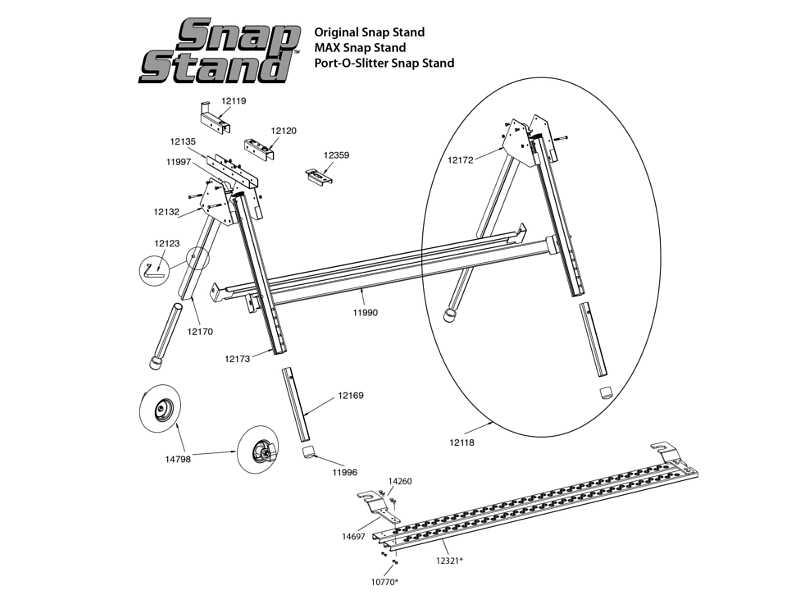 Tapco Snap Stand Replacement Parts Chart