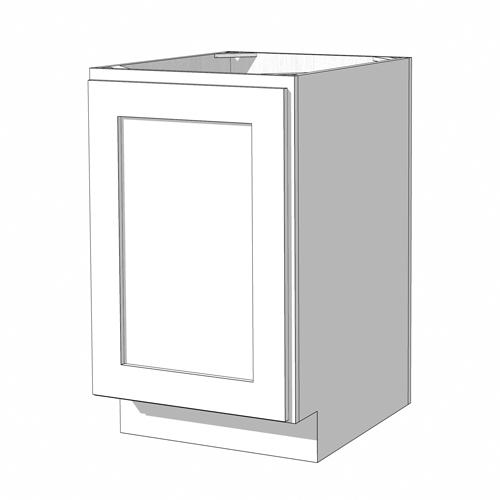 Base Full Height Cabinet - 9in. - White