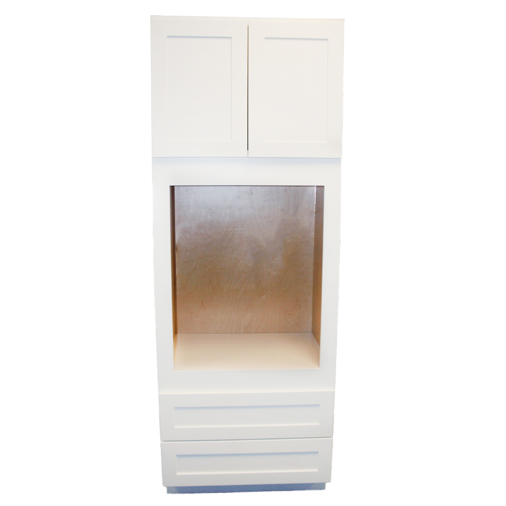 Tall Single Oven Cabinet - 33in. x 84in. - White