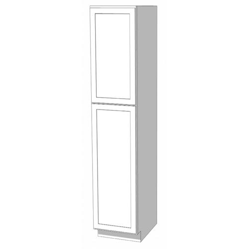 Utility Cabinet - 24in. x 90in. x 24in. - White