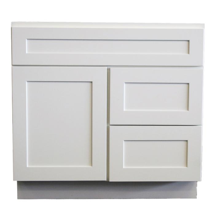 Vanity Sink Base 3in. L Drawer - 30in. - White