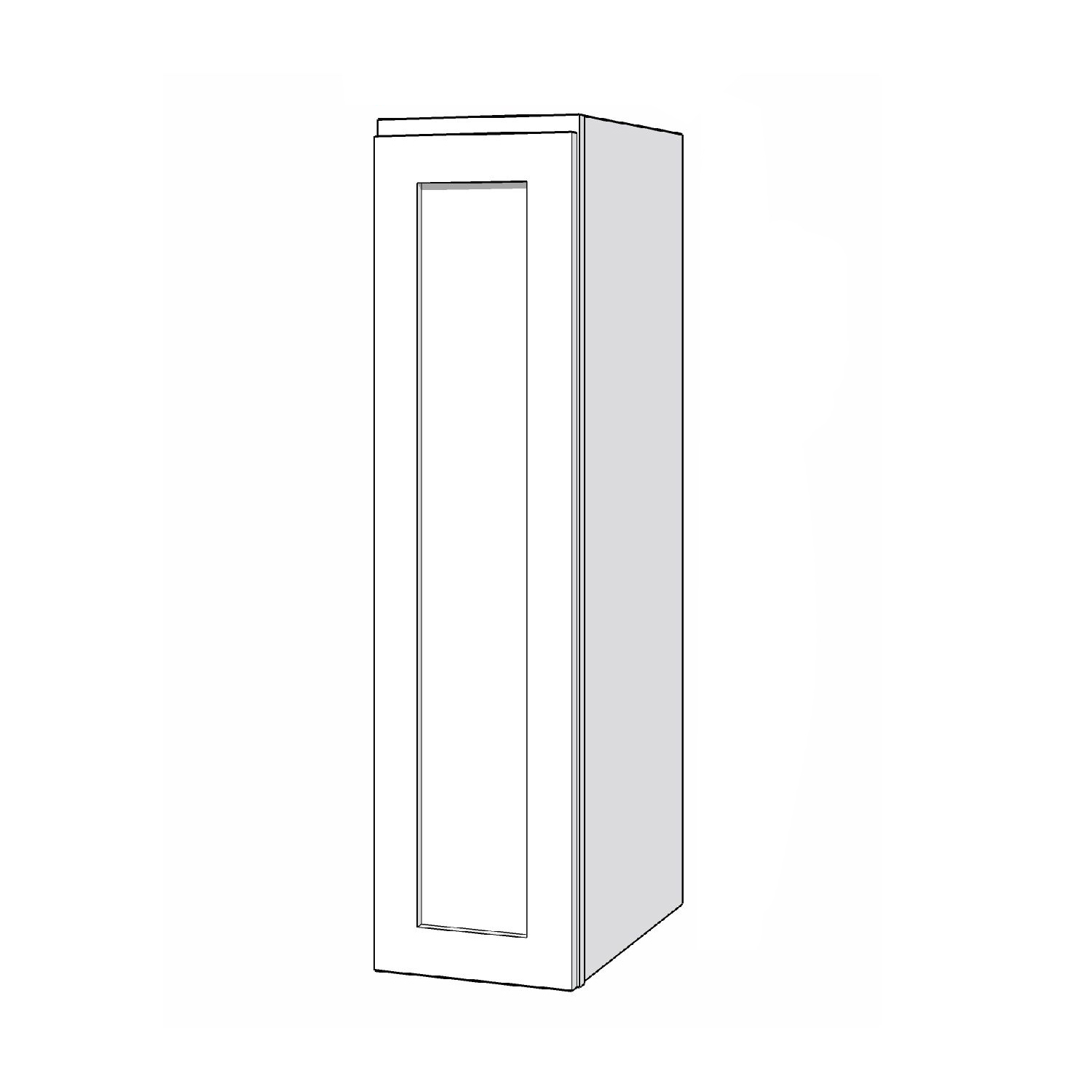 Wall Cabinet - 9in. x 36in. - White