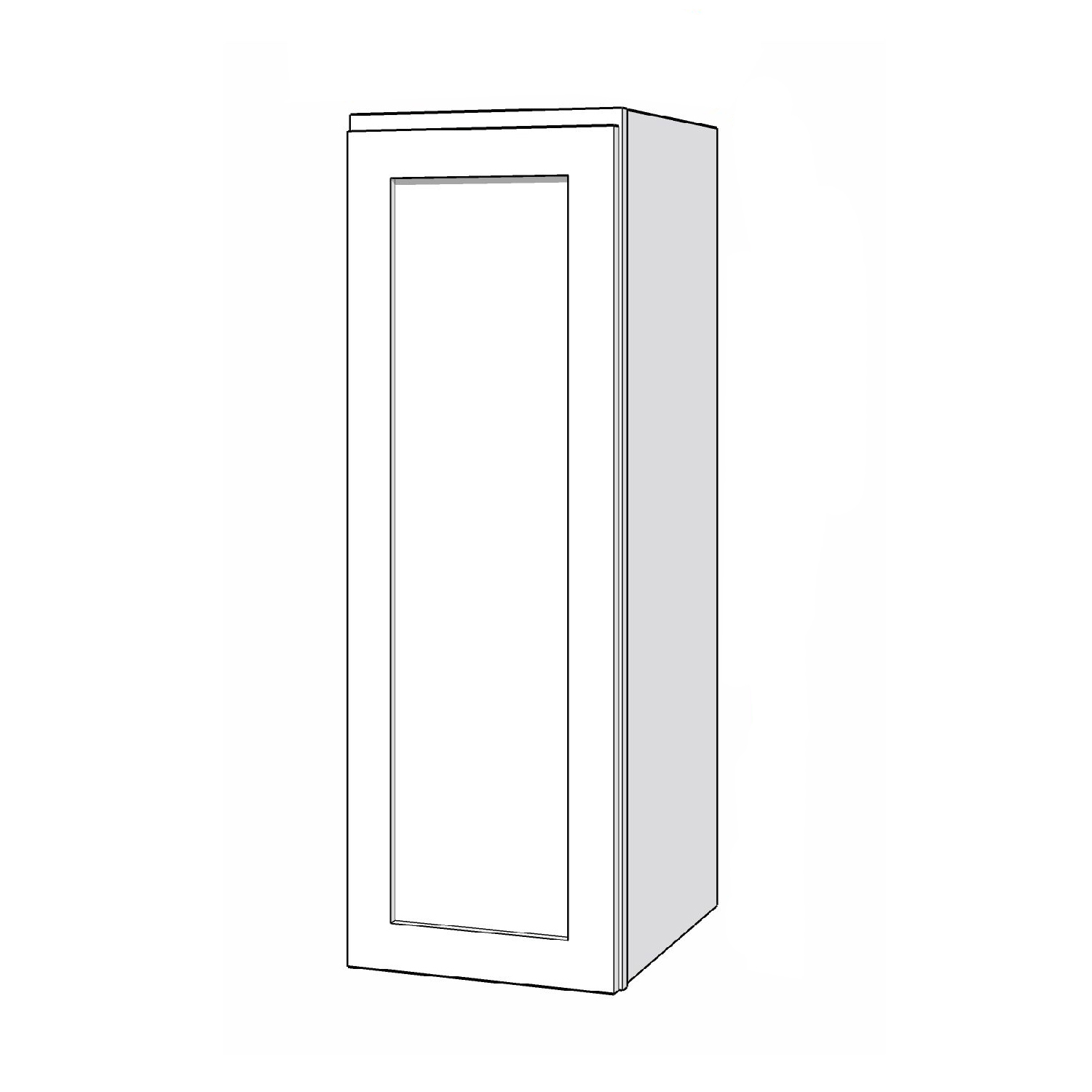 Wall Cabinet - 12in. x 36in. - White