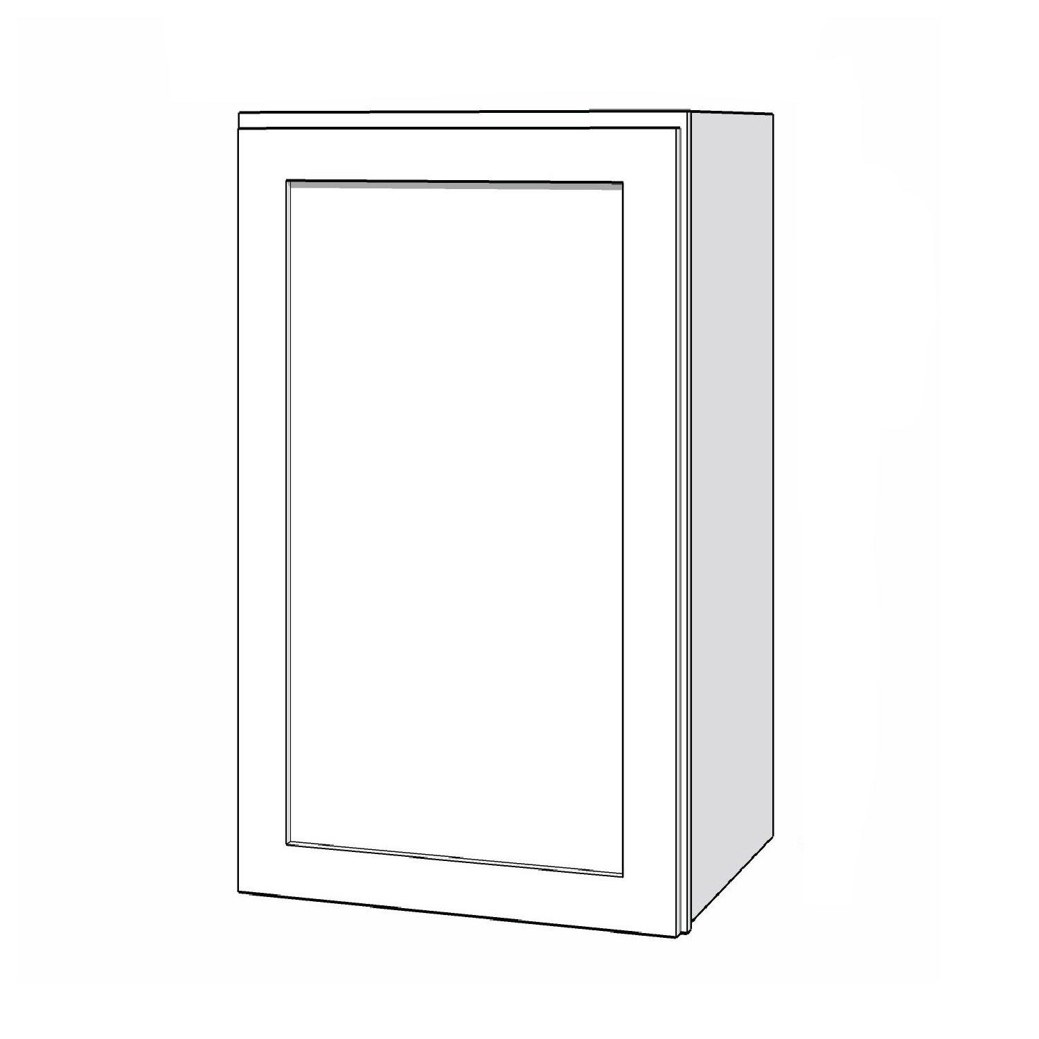 Wall Cabinet - 18in. x 30in. - White