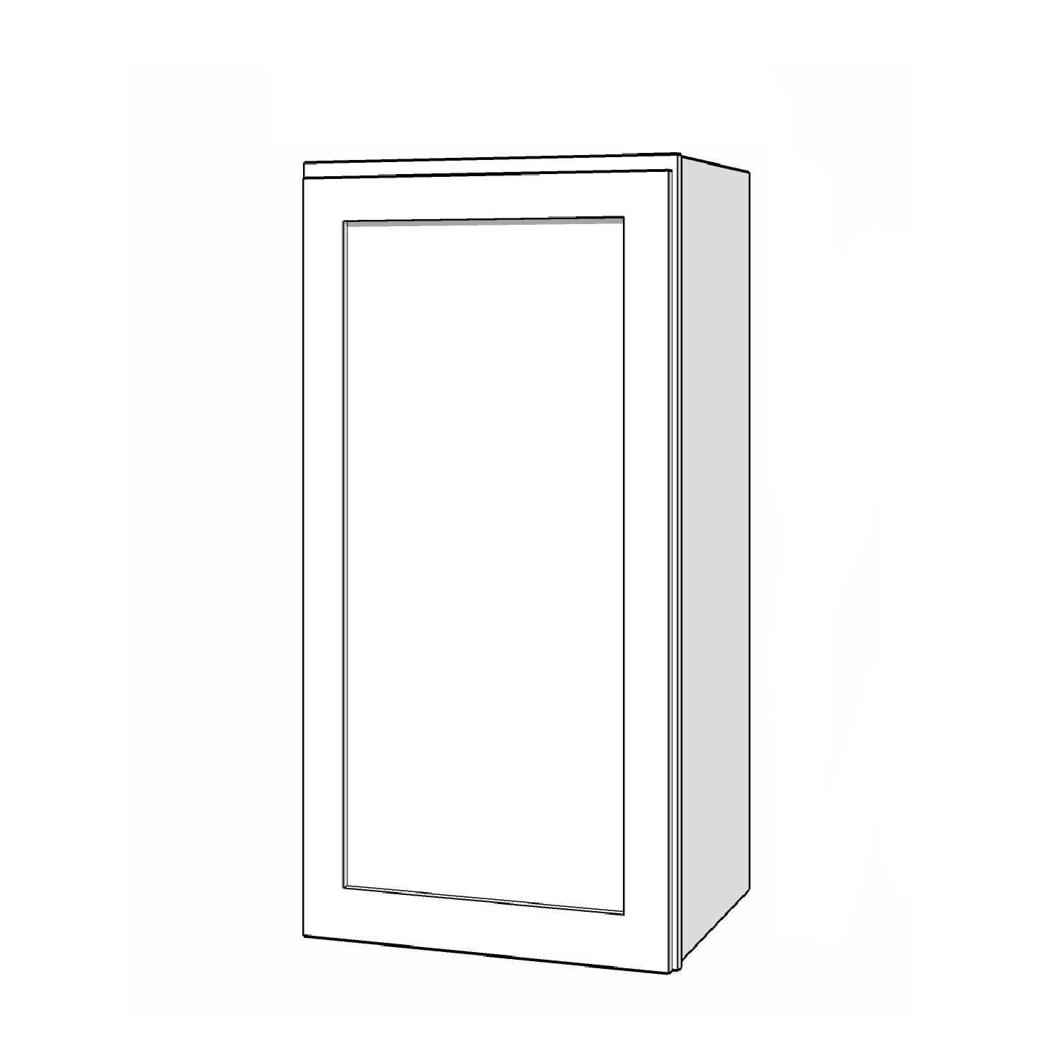 Wall Cabinet - 18in. x 36in. - White