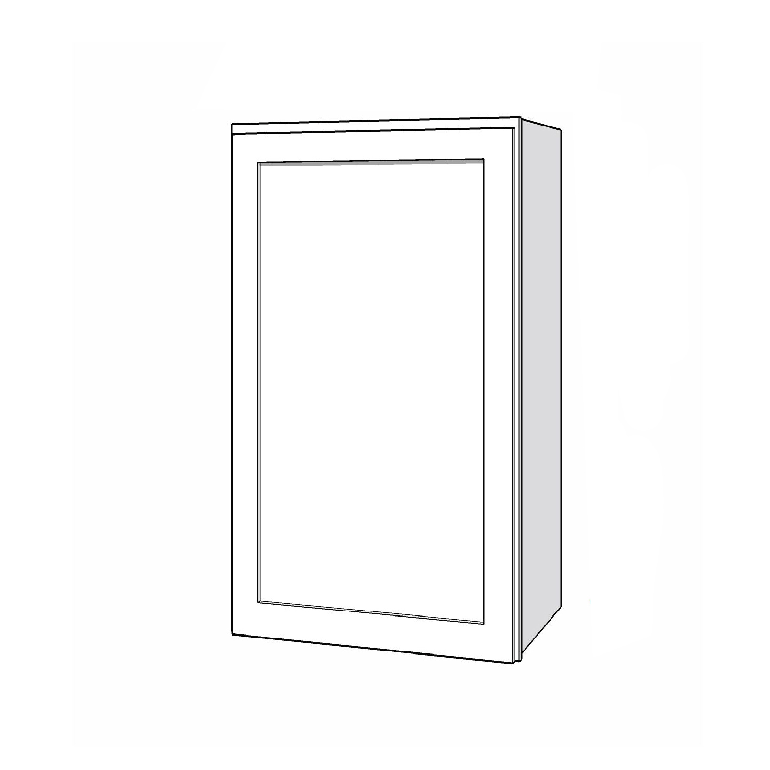 Wall Cabinet - 21in. x 36in. - White