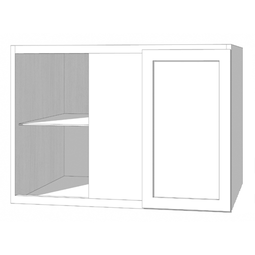 Wall Blind Corner Cabinet - 42in. x 30in. - White