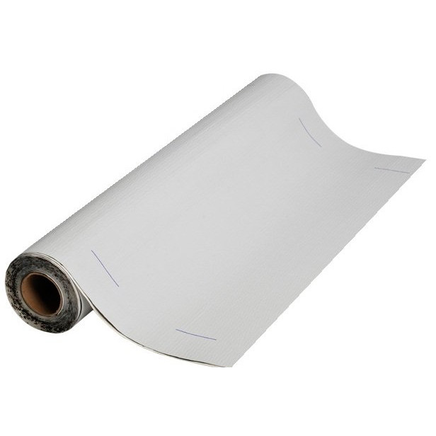 Carton of 3, 12in. White MFM Peel /& Seal Self Stick Roll Roofing