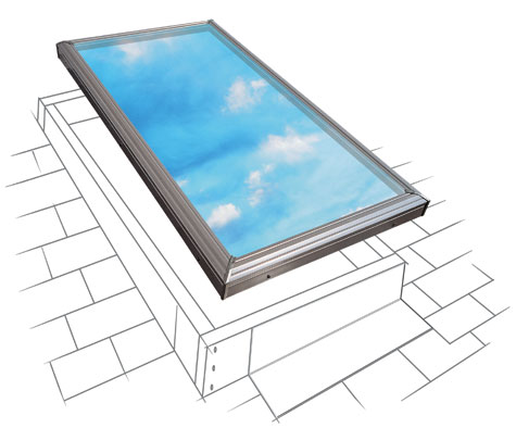 velux fcm curb mounted fixed skylight ebay. Black Bedroom Furniture Sets. Home Design Ideas
