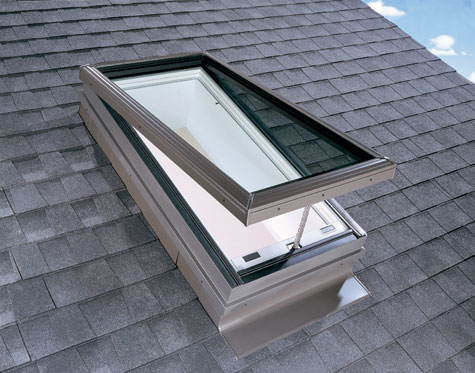 Velux Vce Curb Mounted Venting Electric Skylight
