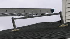 RGC Pivoting Platform Hoist Track Roof Support