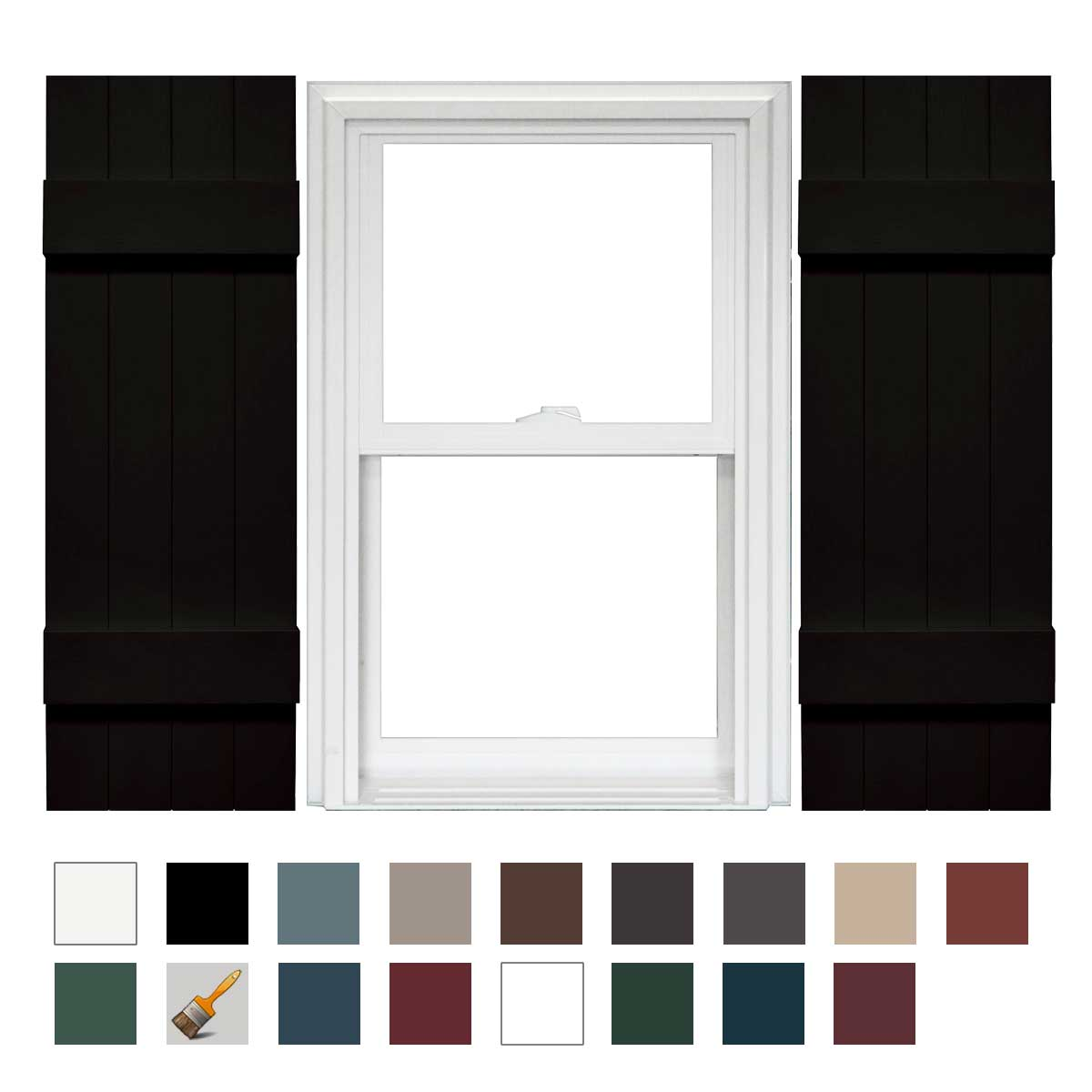 Mid america board n batten 4 board joined vinyl shutters - Board n batten exterior shutters ...