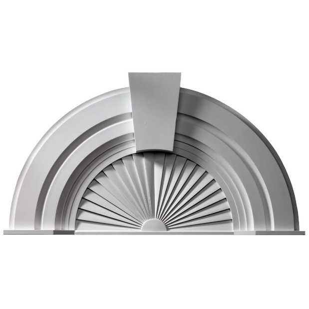 Fypon polyurethane 10 decorative arch pediment from for Fypon window pediments