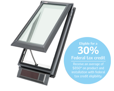 Velux vss deck mount venting solar powered skylight from for Velux solar skylight tax credit