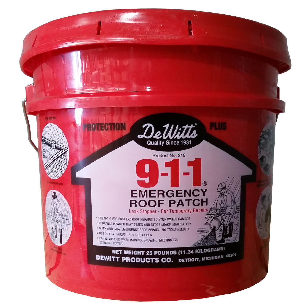 911 Emergency Roof Patch 25lb Bucket From Buymbs Com