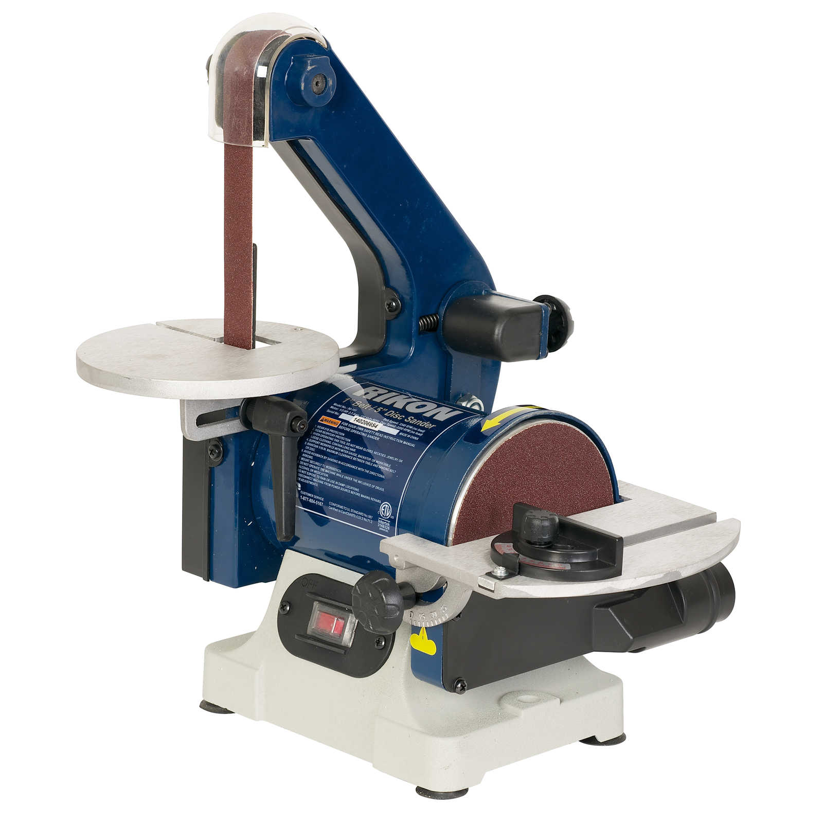 Rikon 1 3hp 1in X 30in Belt Sander With 6in Disc From