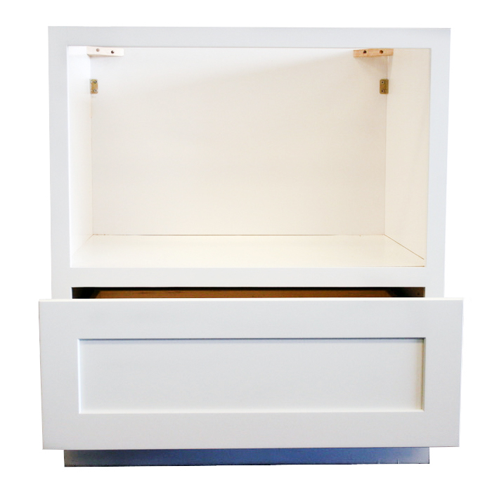 Microwave Cabinet Front Open