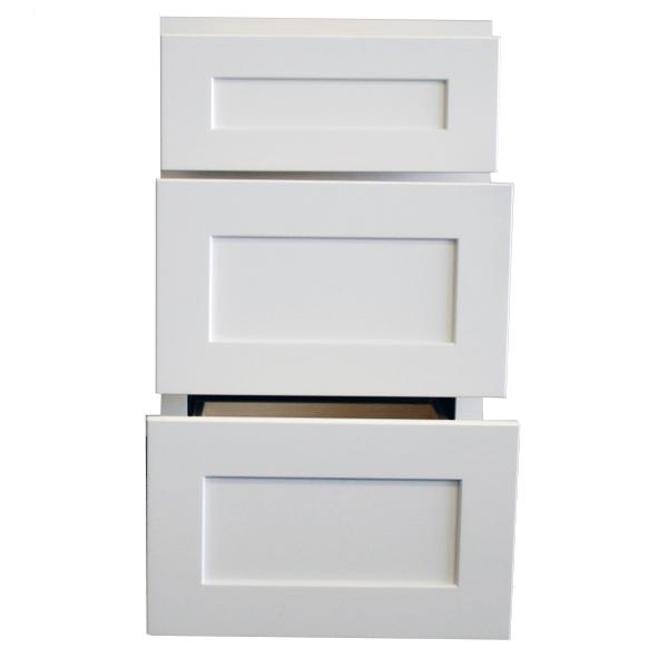 Cabinet door open view