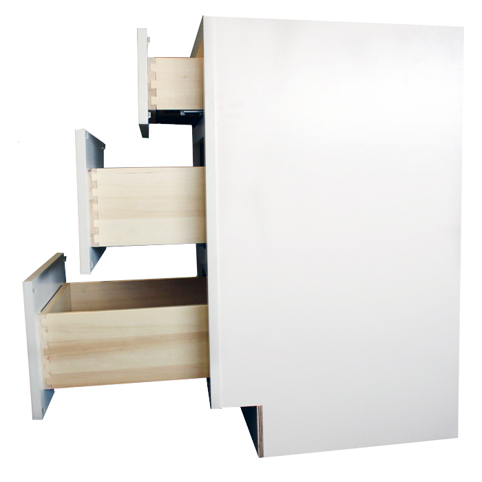 Side drawer view