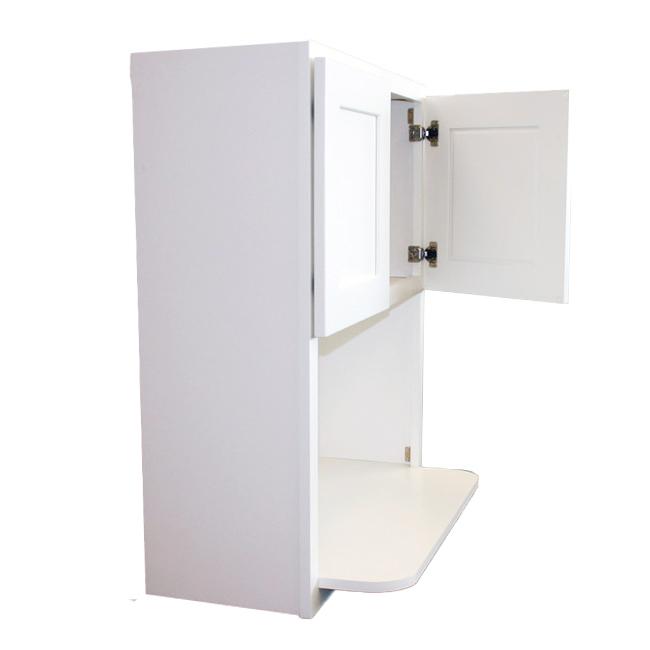 Microwave Cabinet One Side Door Open