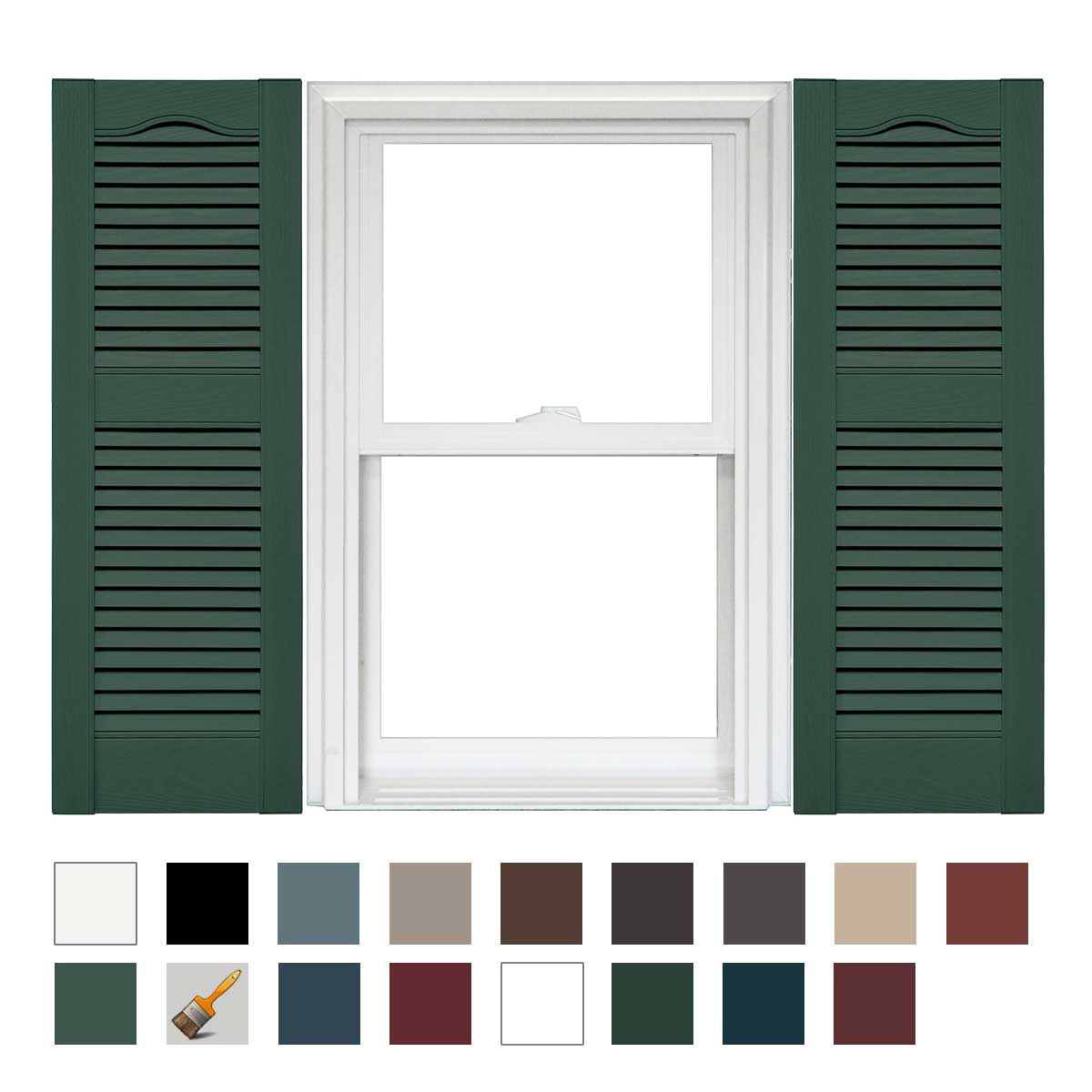 Mid America Cathedral Open Louver Vinyl Standard Shutter