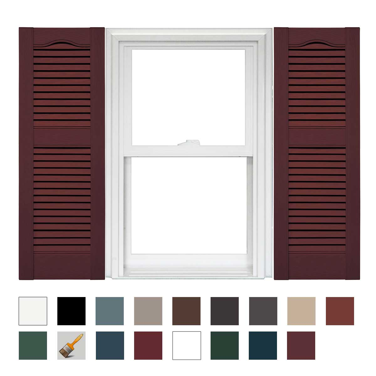 Mid America Open Louver Vinyl Shutters 14.5in. 1 Pair