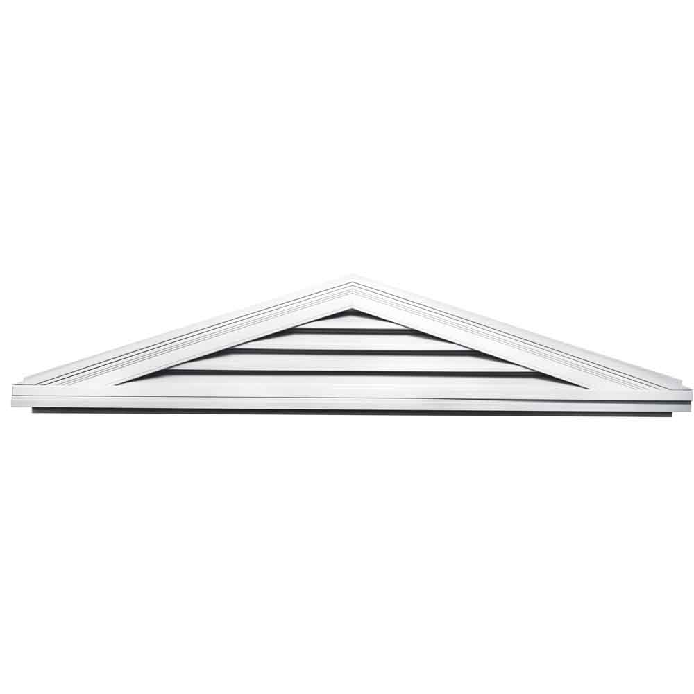 Builders Edge Vent 4 12 Triangle Gable Vent 001 White
