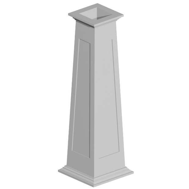Fypon tapered vinyl column wraps ebay for Fypon column