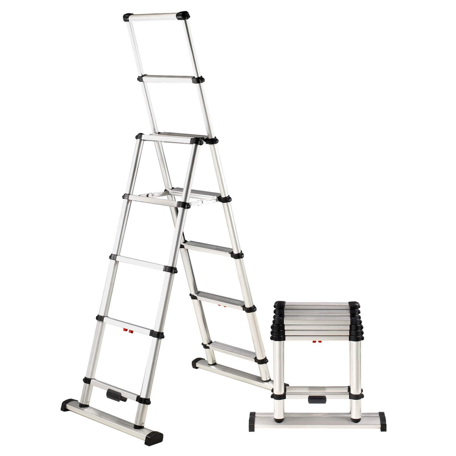 Telesteps Telescoping Wide Step A-Frame Combi Ladder | eBay