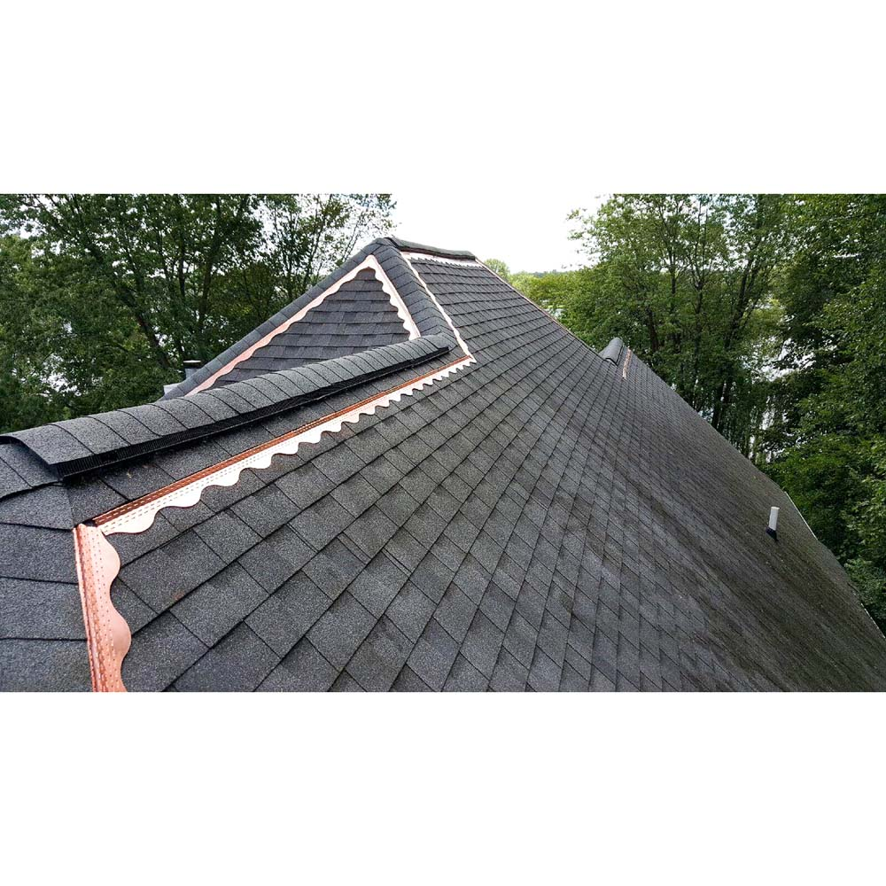 Roof with Copper Cat Strips